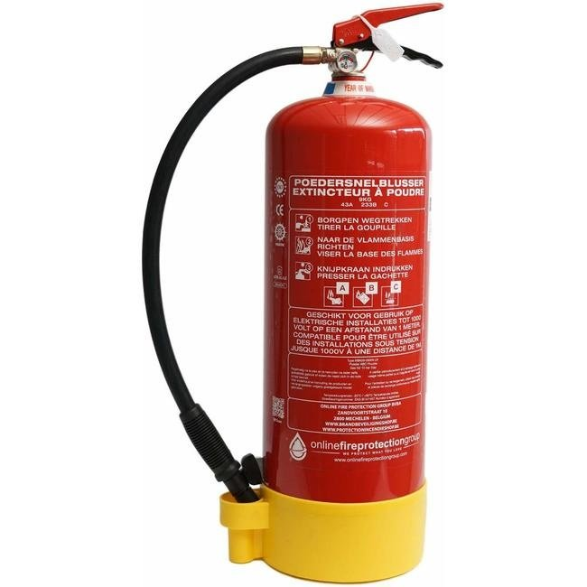FireDiscounter Powder fire extinguisher 9kg with BENOR-label (ABC)