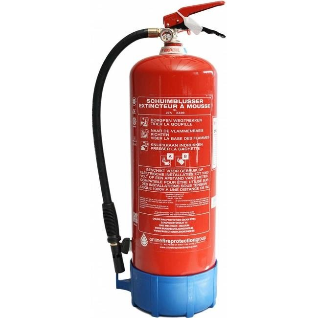 FireDiscounter Fire extinguisher foam 9l with BENOR-label (AB)