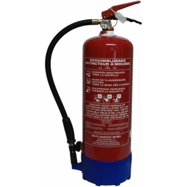FireDiscounter Foam-fat fire extinguisher frost-free 6l with BENOR-label (ABF)