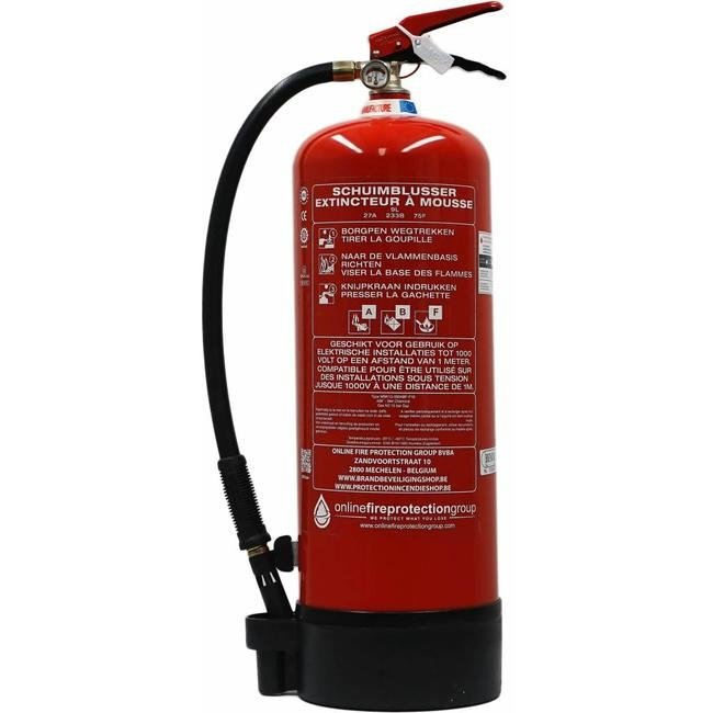 FireDiscounter Foam-fat fire extinguisher frost-free 9l with BENOR-label (ABF)