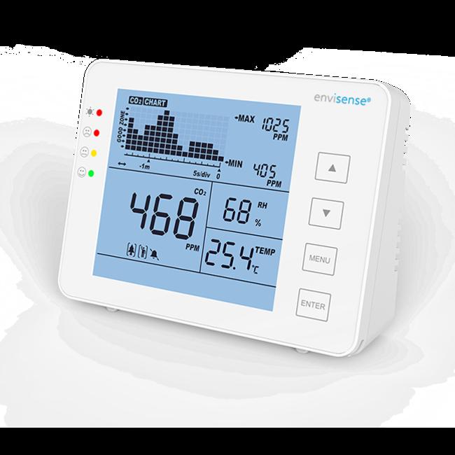 Econox EnviSense CO2 meter with temperature and humidity sensor
