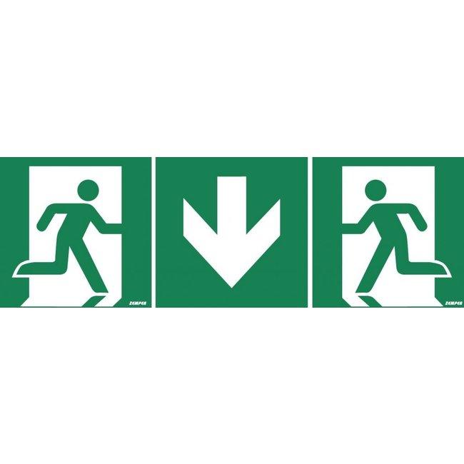 Zemper Zemper pictogramme modulaire sortie de secours