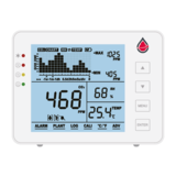 Aircare CO2 meter with battery and temperature and humidity sensor