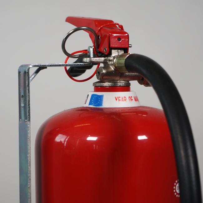 FireDiscounter Support au mur métal pour extincteur 6kg/l