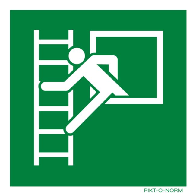 Pikt-o-Norm Pictogramme échelle de secours fenêtre