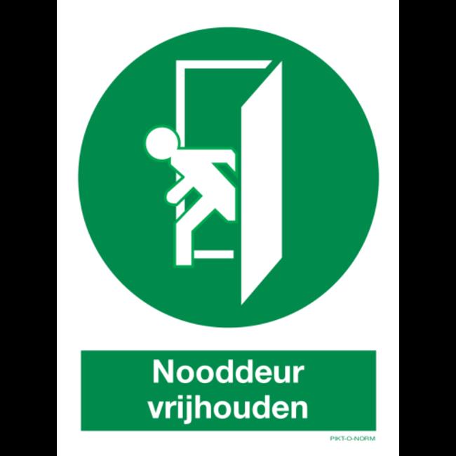 Pikt-o-Norm Pictogramme Gardez la porte de secours dégagée