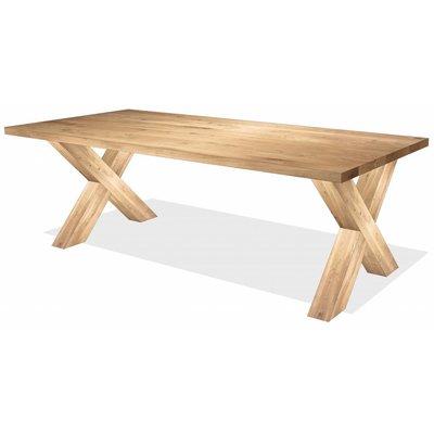 'Helsinki' rechthoekige tafel eiken X-poot