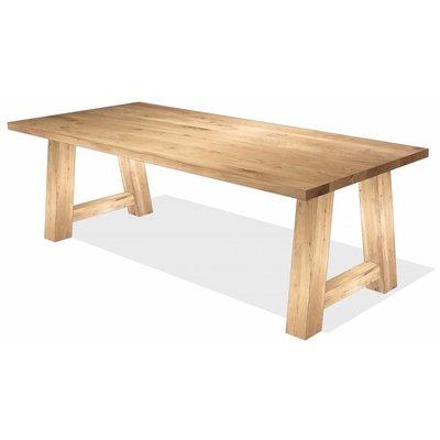 'Helsinki' rechthoekige tafel eiken trapezium