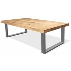 'Helsinki' rechthoekige salontafel van 44mm met een onderstel naar keuze