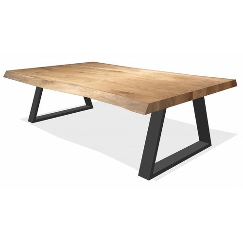 'Oslo' boomstamvormige salontafel trapezium 7/2