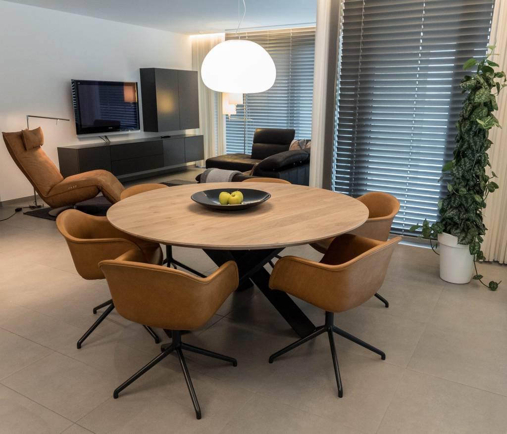 Ronde Eettafel 180 Cm.Een Boomstamtafel Puur Natuur Woodcreations