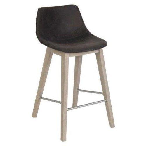 HAPY bar-counterstoel/ houten onderstel/ STEL UW EIGEN STOEL SAMEN!