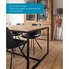 SALE! 'Stockholm' industriële eiken tafel 240x100 849,- euro  open structuur met dwarsprofiel