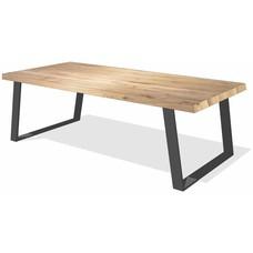 'Amsterdam' rechthoekige tafel schuine U-poot staal 10/2