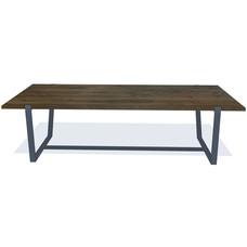 'WENEN' de ambachtelijke eiken tafel met een ingefreesde poot naar keuze, KIES HIER UW FRAME/KLEUR BLAD