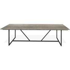 'Bern' de industriële tafel met een eiken blad op een stalen onderstel, KIES HIER UW FRAME/KLEUR BLAD