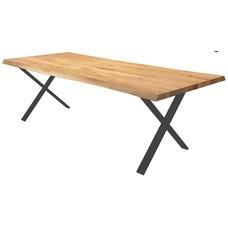 'OSLO' onze mooie eiken boomstamtafel op stalen onderstel KIES HIER UW ONDERSTEL/ KLEUR EIKEN