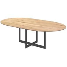 'Parijs' onze tijdloze ovale eiken tafel met facetkant, KIES HIER UW ONDERSTEL/ KLEUR BLAD