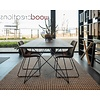 'Milaan' eiken tafel afwerkt met afgeronde hoeken met driehoekige draadpoot  - Copy