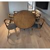 'Florence' ellipsvormige tafel met centrale ALMO poot