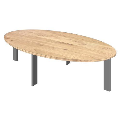 'Florence' ellipsvormige salontafel hoekpoot Roel