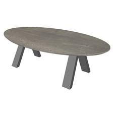 'Florence' ellipsvormige salontafel omgekeerde V-poot
