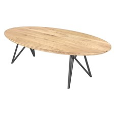 'Florence' ellipsvormige salontafel MOSA poot