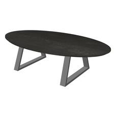 'Florence' ellipsvormige salontafel trapezium poot