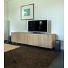 'Helsinki' hangend tv-meubel met RECHTE OPLIGGENDE deuren