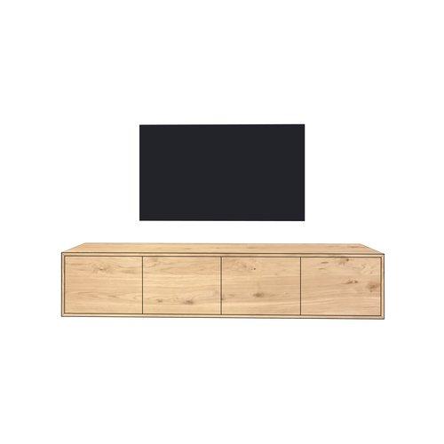 'Stockholm' hangend tv-meubel met RECHTE INLIGGENDE deuren