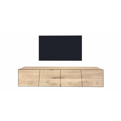'Reykjavik' hangend tv-meubel met SCHUINE OPLIGGENDE deuren
