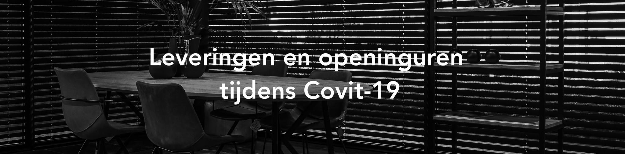 Leveringen en openingsuren tijdens Covid-19