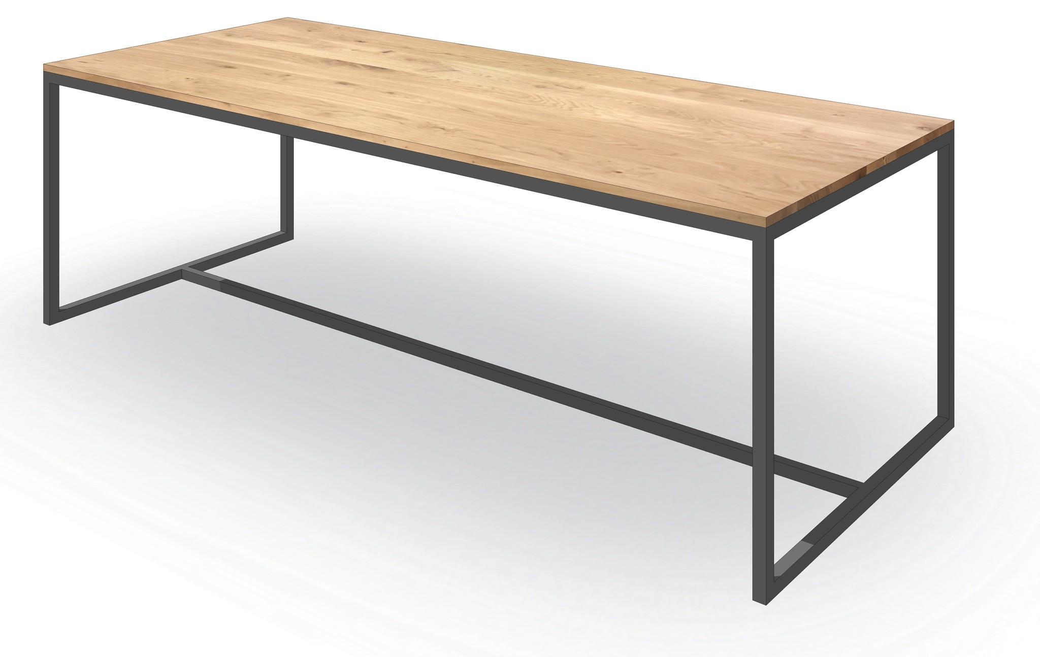 Industriele Tafel Met Stalen Onderstel.Een Boomstamtafel Puur Natuur Woodcreations
