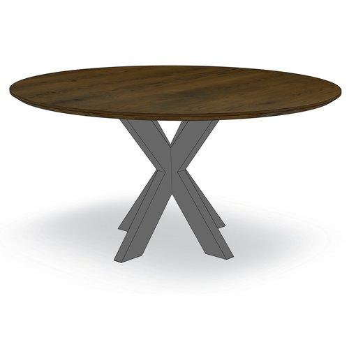 'Madrid' ronde tafel met centrale X-poot