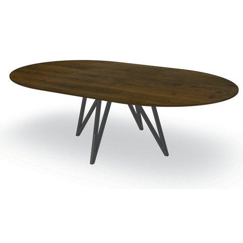 'Parijs' ovale tafel met centrale ALMO poot
