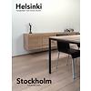 'Stockholm' industriële eiken tafel zonder dwarsprofiel en tussenregel