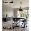 'Stockholm' industriële eiken tafel U profiel