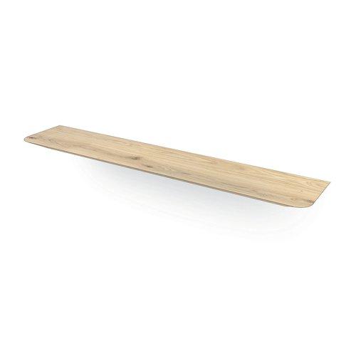 """""""Milaan"""" zwevende wandplank met schuine ronde hoeken uit 40 mm massief eiken"""