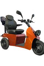 INCA Neon scootmobiel met kinderzitje achter