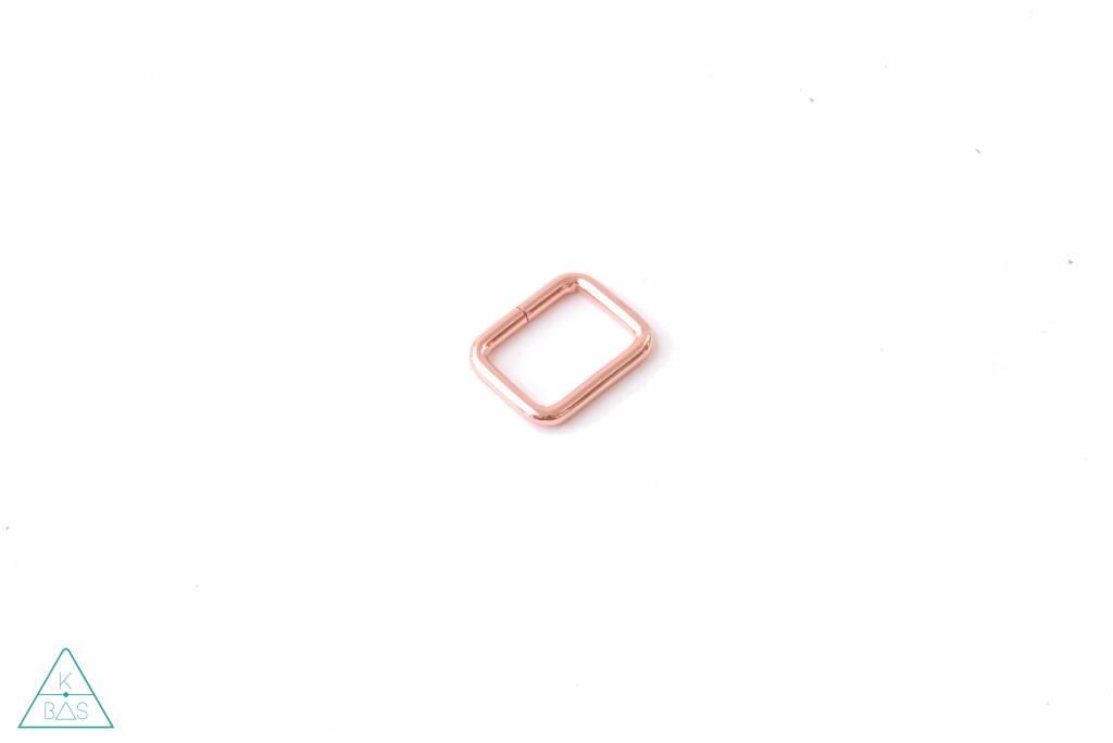 k-bas Passant Rechthoekig  Rosé Goud 25mm