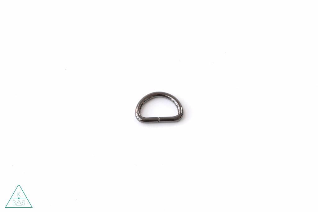 k-bas D-ring Zwart Nikkel 25mm