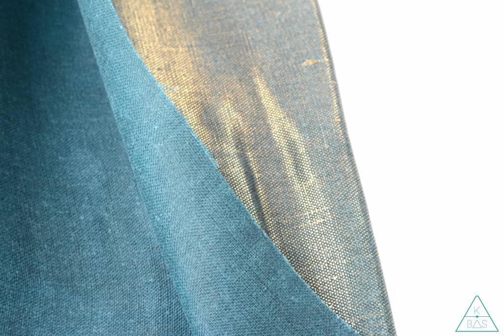 ALFrances Handwaxed metallic linnen,  Golden Teal