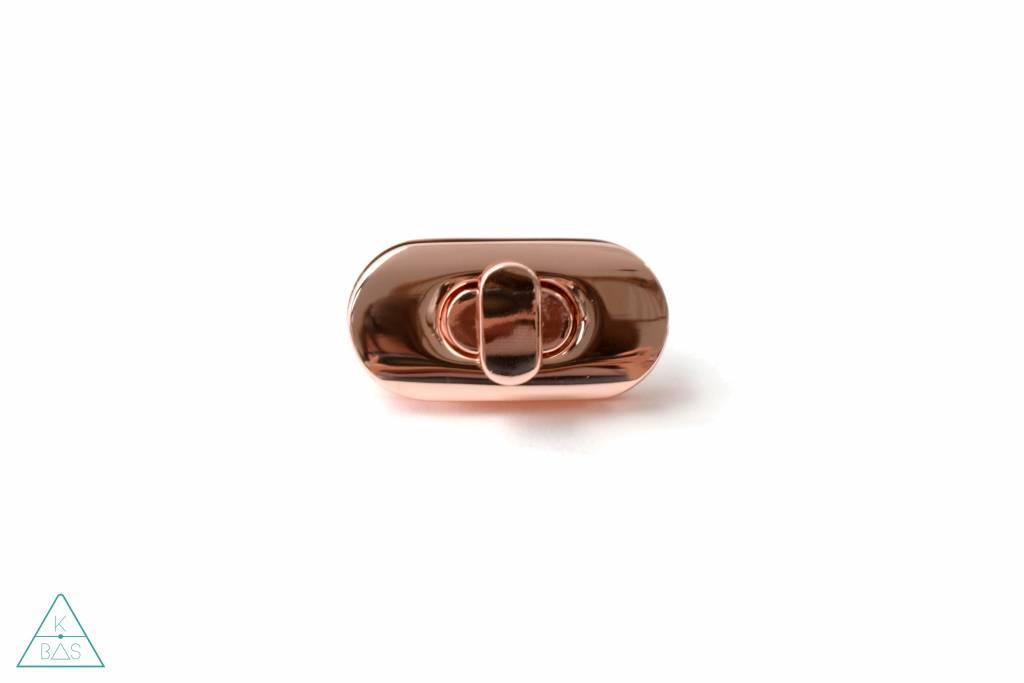 Emmaline Bags Draaisluiting, Rosé Goud