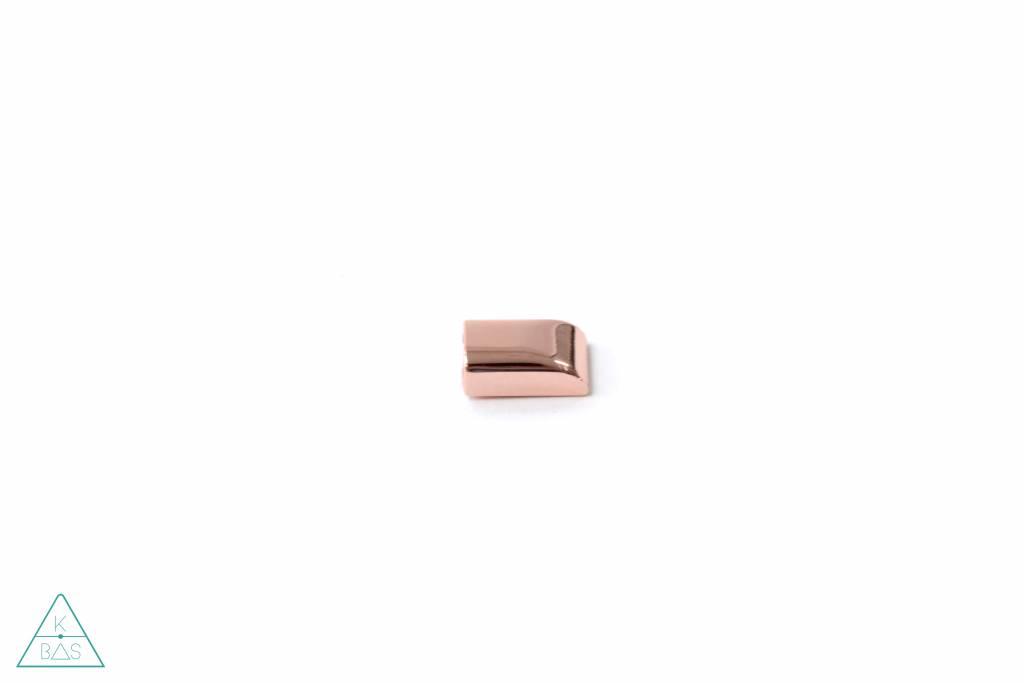 Emmaline Bags Ritsklem in rosé goud (6mm)