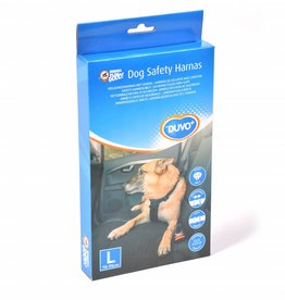 Duvo+ Honden veiligheidsharnas + gordel  voor in auto maat L