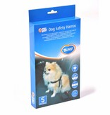 Duvo+ Honden veiligheidsharnas + gordel voor in auto maat S