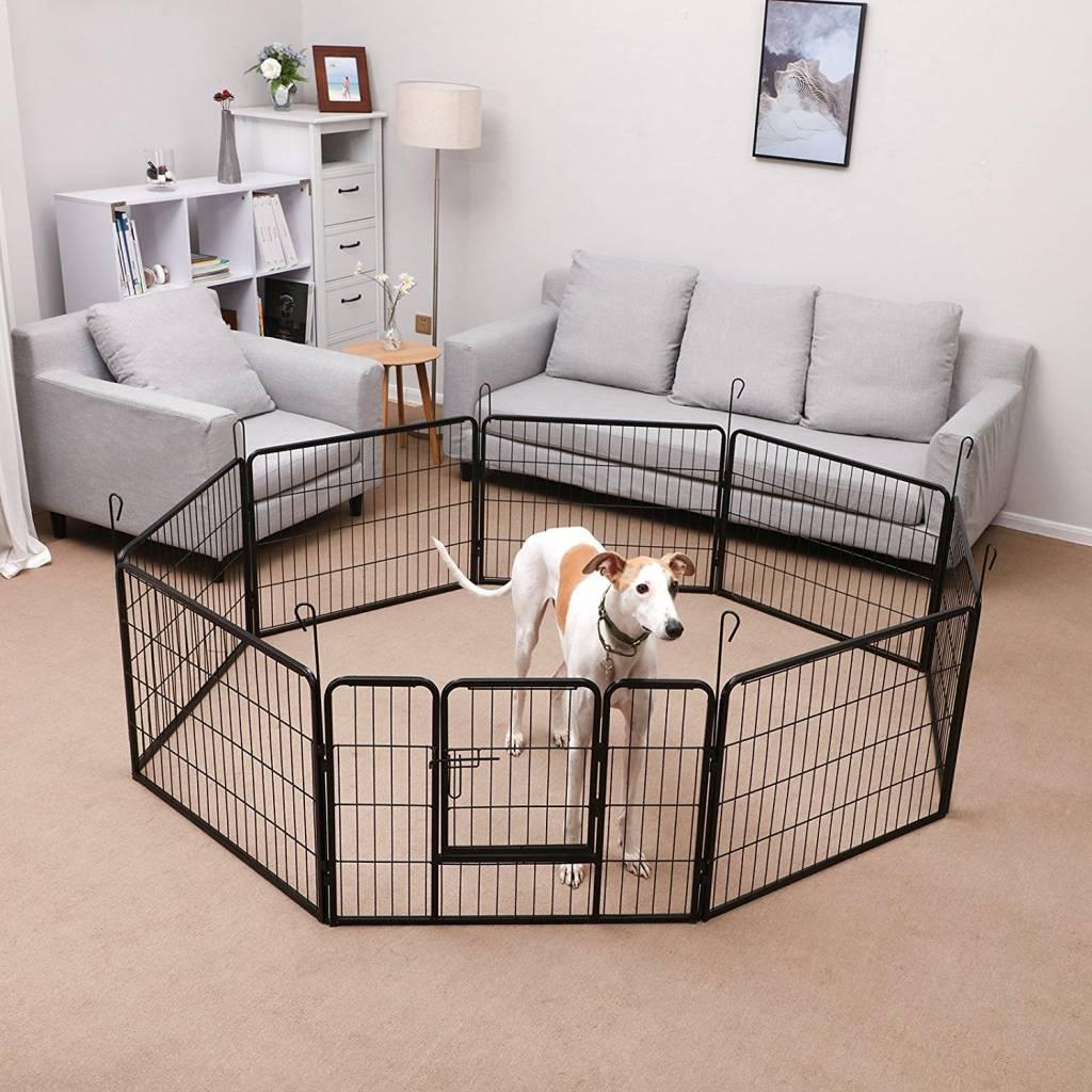 Huismerk Puppyren 8 hoekig 60 cm. hoog zwart