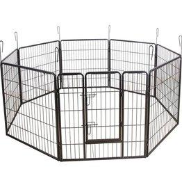 Huismerk Puppyren 8 hoekig 80 cm. hoog zwart