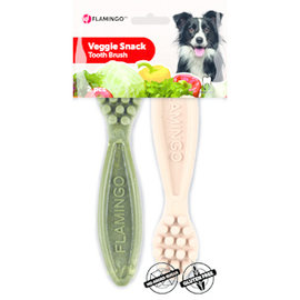 Flamingo Veggie Tandenborstel 14,5 cm 2stuks mix