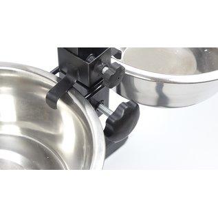 KLD H-standaard met voer en drinkbak 25 cm 2.8 liter